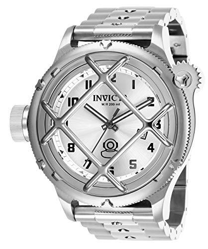 Invicta Men's 26465 Russian Diver Quartz 3 Hand Silver Dial Watch ()