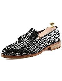 Nyngei Men's Autumn Classic Wingtip Dress Oxford Slip Rubber Sole Wedding Shoes