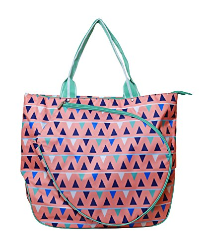 All for Color Tennis Tote (Sand Castles) (Webbed Court)