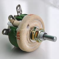 Electronics-Salon 25W 5 OHM High Power Wirewound Potentiometer, Rheostat, Variable Resistor.