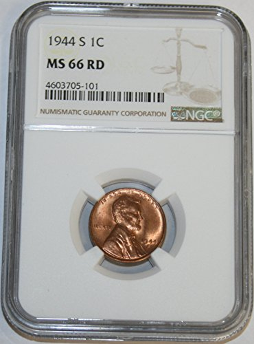 1944 S Lincoln Cent MS66 NGC RD