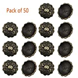Whale GoGo 50 Pcs 20mm Diameter Round Head Upholstery Tacks Decorative Furniture Sofa Door Nails Bronze