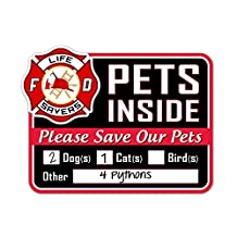 Signs Authority Stylish Laser Cut Pet Safety Rescue Sign, Red