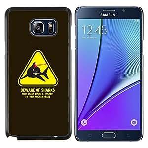 LECELL--Funda protectora / Cubierta / Piel For Samsung Galaxy Note 5 5th N9200 -- Peligro Advertencia Láseres Powers Austin --
