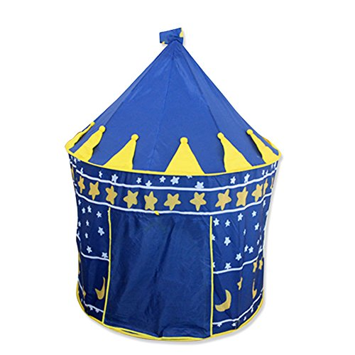 Hi Suyi Kids Children Castle Play Tent Game House Mongolian yurts Teepee Tent Indoor Outdoor Garden Beach Toys Playhouse for Boys Girls Prince Princess]()