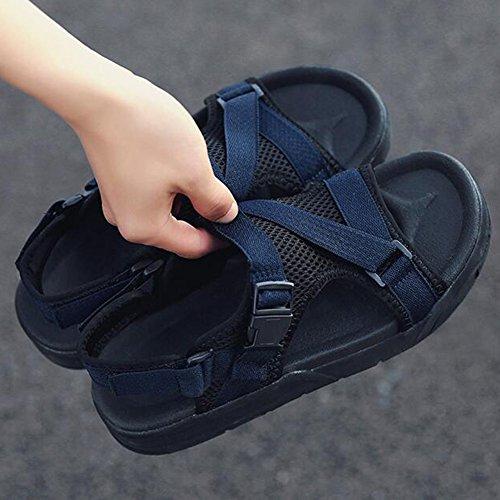 Sandalias Gris Verano Azul Hombre UK6 QIDI Tamaño Antideslizante Antideslizantes De Negro Zapatillas Azul Color Azul Playa EU39 Zapatillas SwXdEWqE