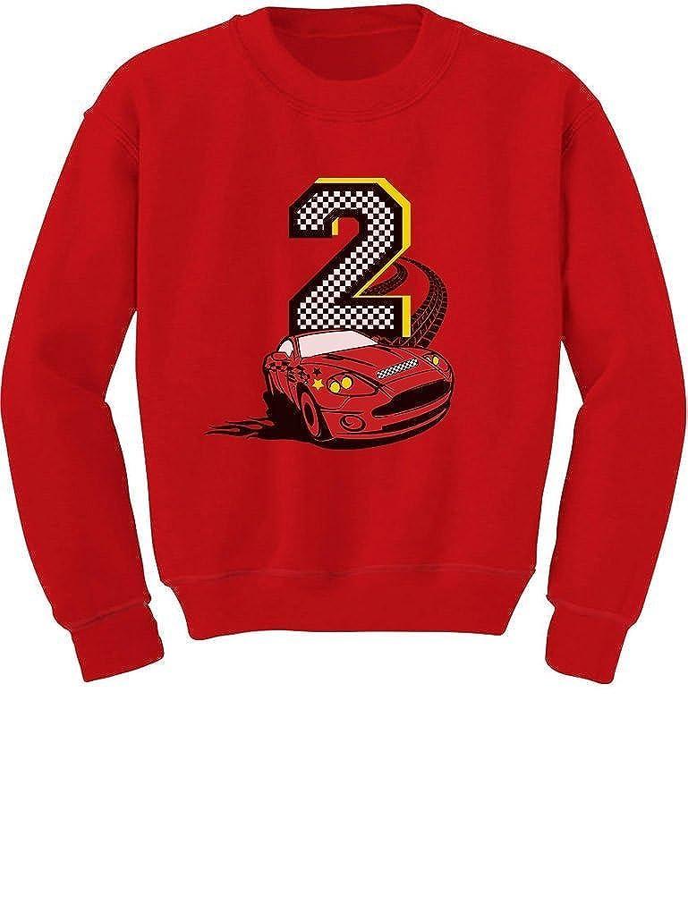 TeeStars - 2nd Birthday Race Car Party 2 Year Old Boy Toddler/Kids Sweatshirt GtPh003gf5