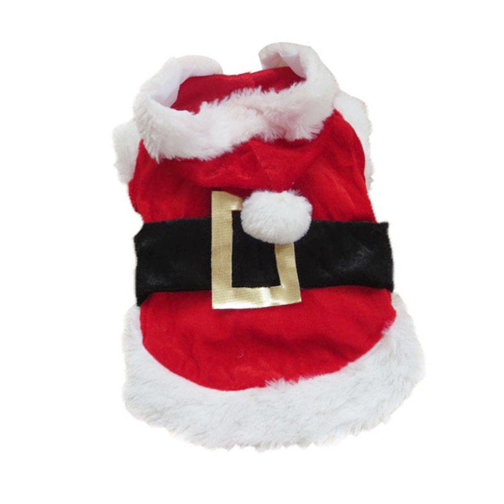 Hrph Costume Déguisement Père Noël Chien Vêtements Manteau d'Hiver Chiot Chien Animaux Domestiques XXS/ XS/ S/ M/ L