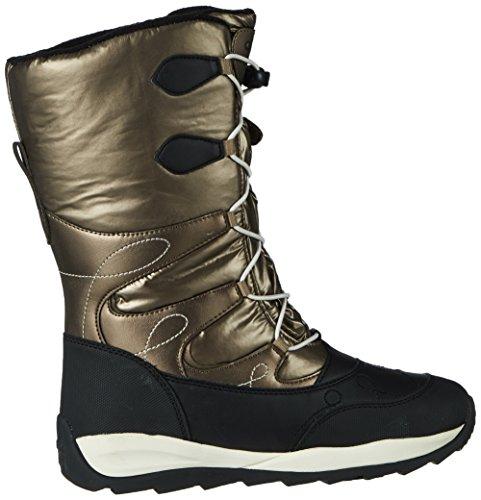 Geox Unisex Adults' J Orizont B Girl ABX C Snow Boots Gold (Dk Gold C2016) HSd5DC79y
