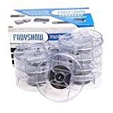 Fadyshow Bed Risers Raise Clear Round Furniture Lift 1X4X4 Pack of 8 Pieces