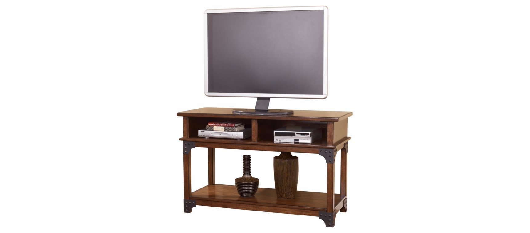 Ashley Furniture Signature Design - Murphy Sofa Table - Entertainment Console Table - Rustic Style - Rectangular - Medium Brown
