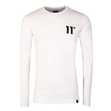 c4c1722ba50a Eleven Degrees - Core Long Sleeve T-Shirt, White: Amazon.co.uk: Clothing