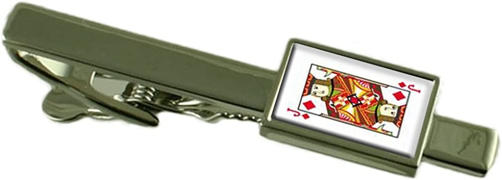 Select Gifts Diamond Playing Card Jack Tie Clip Pouch