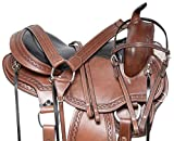 Acerugs GAITED TN Walking Horse Western Saddle TACK Set Premium Leather Bridle REINS Breast Collar