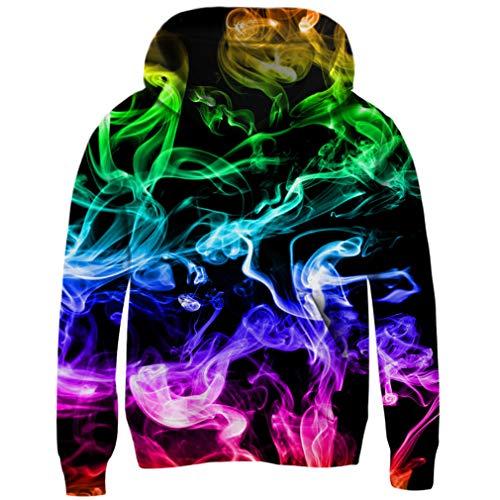 Funnycokid Teens Youth 3D Galaxy Print Hoodie Novelty Fleece Sweatshirt Pullover Hooded Jumpers XL
