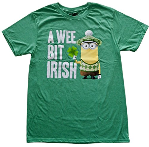 [Despicable Me A Wee Bit Irish Adult Sized St. Paddy's Day T-shirt (Large)] (Despicable Me Glasses)