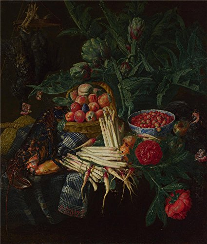 Oil Painting 'Pieter Snijers A Still Life', 16 x 19 inch / 41 x 48 cm , on High Definition HD canvas prints is for Gifts And Bar, Bath Room And Foyer Decoration, making your own