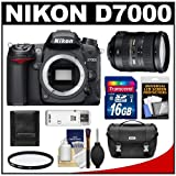 Nikon D7000 Digital SLR Camera Body with 18-200mm VR II Zoom Lens + 16GB Card + Filter + Case + Accessory Kit, Best Gadgets