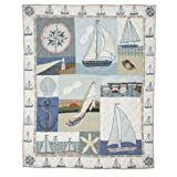 Patch Magic 50-Inch by 60-Inch Nautical Throw