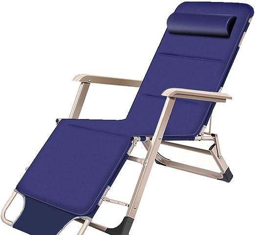 Tumbona Sillas reclinables Sillas reclinables de jardín Sillas de jardín Sillas de jardín Playa (Azul): Amazon.es: Jardín
