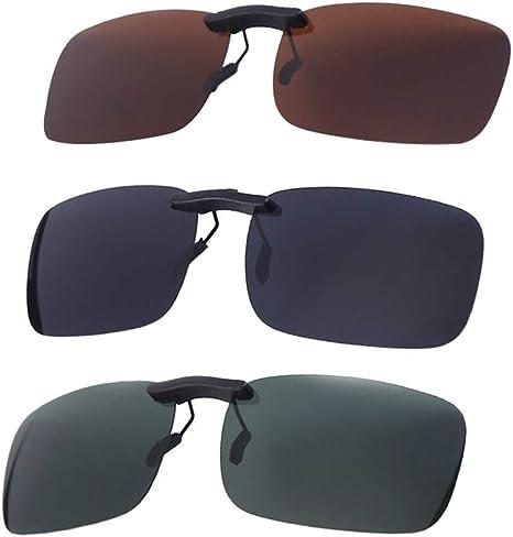 VORCOOL 3pcs Gafas de Sol de Clip en Flip Up Lente polarizada sin ...