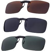 VORCOOL Myopie-zonnebril, gepolariseerde clip-bestuurder, glazen clip, gepolariseerde glazen zonnebril, clip voor het…
