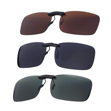 Amazon.com : VORCOOL 3PC Clip On Flip Up Sunglasses ...