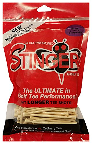 Stinger Pro XL Competition Golf Tees 200 Count Cream 3 in (Flight Bamboo Tee)