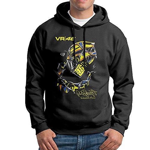 VALENTINO ROSSI Motorcycle Men's Pullover Black Sweatshirt