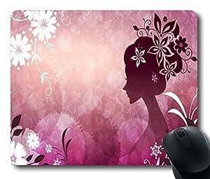 "Girl Standard Mouse Pad Oblong Design Mousepad in 220mm*180mm*3mm (9""*7"") -102117"