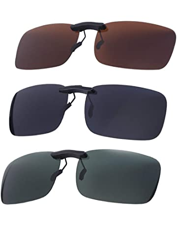 b54d708f6f VORCOOL 3pcs Gafas de Sol de Clip en Flip Up Lente polarizada sin Marco  Rectangle Lens