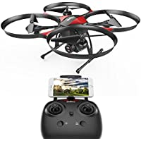WI-FI FPV version DROCON U818PLUS Quadcopter Drone with HD Camera, 18-Mins Flight Time, Altitude Hold, Headless Mode, One-Button Take off and Landing, TF Card 4GB Included, Designed for Beginners