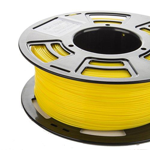 3DDPLUS 1.75mm PLA 3D Printer Filament YELLOW- 1kg Spool (2.2 lbs) - Dimensional Accuracy +/- 0.03mm