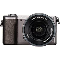 Sony a5100 16-50mm Mirrorless Digital Camera with 3-Inch Flip Up LCD (Brown) - International Version (No Warranty)
