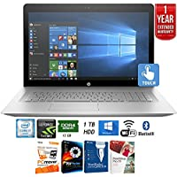 HP 17-U110NR ENVY 17 Laptop, Intel Core i7, 12GB RAM, 1TB HDD, Windows 10 (Silver) + Elite Suite 17 Standard Software Bundle (Corel WordPerfect, PC Mover, PDF Fusion, X9) + 1 Year Extended Warranty