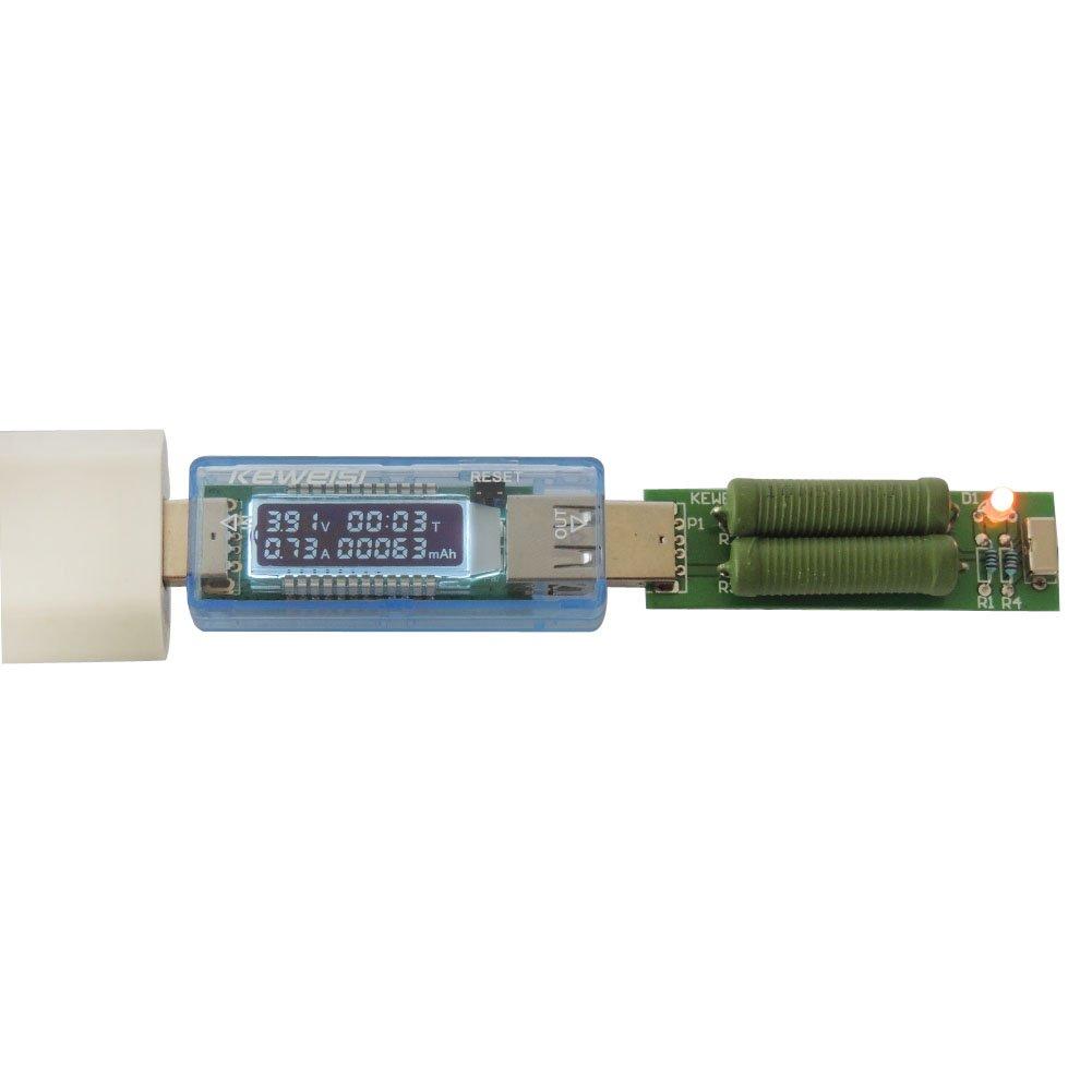 UEB Mini USB de Potencia UEB contraprestaci/ón cuchilloen//rendimiento mult/ímetro digital Amper/ímetro medidor de pantalla con funci/ón de rotaci/ón