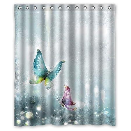 purple and turquoise shower curtain. Custom Turquoise Purple Butterfly Shower Curtain Shower Curtain 60 Quot  X 72 Bathroom Decor