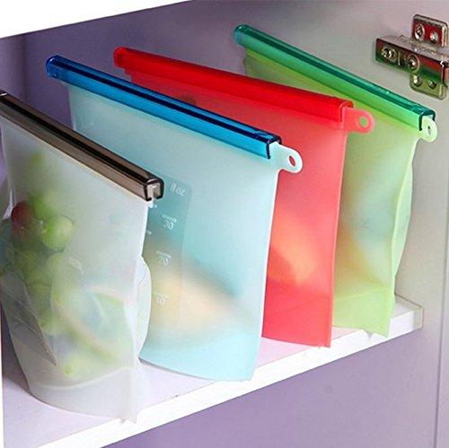SwirlColor Borse in silicone riutilizzabile freschi Home Food bagagli di tenuta borsa - colore casuale