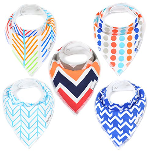 Baby Bandana Drool Bib Gift Set (5-Pack) for Boys