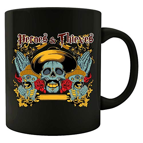 Rolling Glide - Heroes and Thieves - Skull Design - Mug