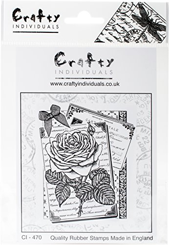 "Crafty Individuals""""Rambling Rose Unmounted Rubber Stamp, 4.75"" x 7"""