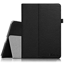 Fintie iPad Air 2 Case - Slim Fit Leather Folio Case with Smart Cover Auto Sleep / Wake Feature for Apple iPad Air 2 (iPad 6) 2014 Model, Black