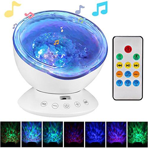 Ocean Wave Projector Night Light Sleep Sound Machine With