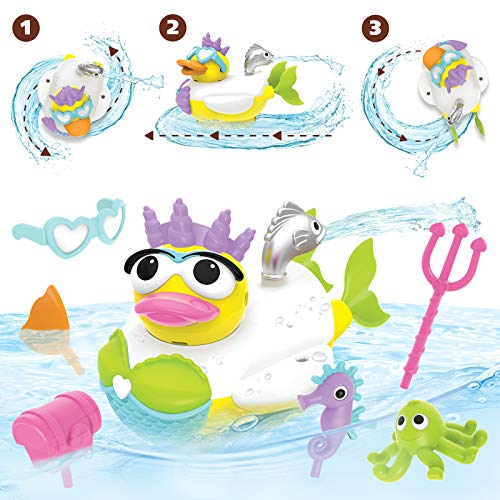 Yookidoo Jet Duck Mermaid Bath Toy with Powered Water Shooter - Sensory Development & Bath Time Fun for Kids - Ages 2+