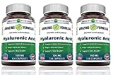 Amazing Formulas Hyaluronic Acid 100 mg 120 Capsules – Support healthy connective tissue and joints – Promote youthful healthy skin – (3 Pack)