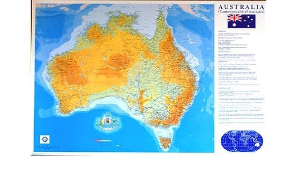 Amazon.com: AUSTRALIA CONTINENT MAP POSTER Rare Hot New 24X36 ...