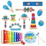 Kids Musical Instruments Percussion Musical Toys for Kids Preschool Education Early Learning with Storage Bag