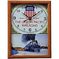 Union Pacific Railroad Big Boy Wood Framed Clock
