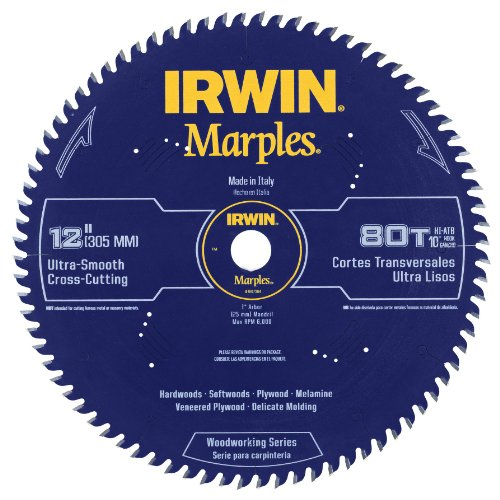 Alternate Top Bevel Blade (Irwin Tools  1807384 Marples Laser Cut 12-Inch 80-Tooth Hi-Alternate Tooth Bevel Circular Saw Blade)