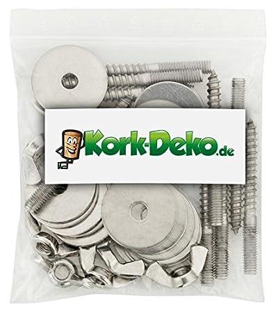 40-teilig Gitter-Gest/änge F/ür Vogelk/äfig und Voliere geeignet Kork-Deko Befestigungsset zum Selbstbau von Sitzstangen // -Brettchen aus Edelstahl f/ür V/ögel zur Befestigung am K/äfig